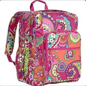 Vera Bradley Pink Swirls Lighten Backpack